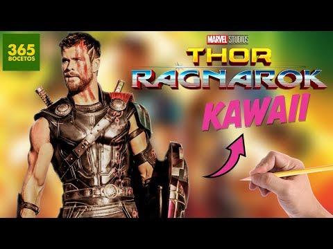 Como a Thor de Thor Ragnarok kawaii