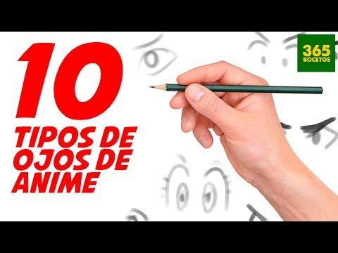 Como dibujar 10 Tipos de Ojos Anime