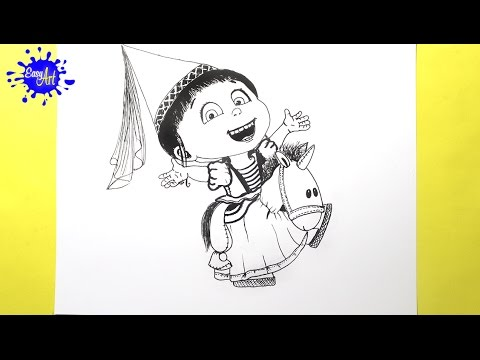 Como dibujar a Agnes de Gru: Mi Villano Favorito