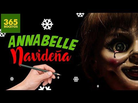 Como dibujar a Annabelle en Navidad