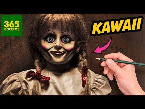 Como dibujar a Annabelle kawaii