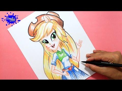 Como dibujar a Applejack de Equestria Girls