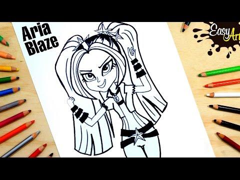 Como dibujar a Aria Blaze de My Little Pony
