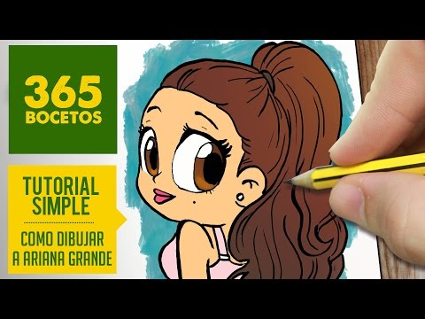 Como dibujar a Ariana Grande kawaii