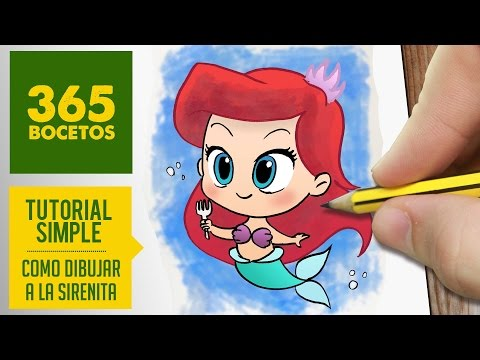 Como dibujar a Ariel de la Sirenita