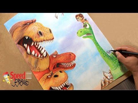 Como dibujar a Arlo el Dinosaurio
