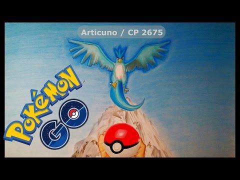 Como dibujar a Articuno de Pokémon Go