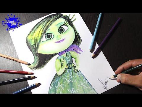 Como dibujar a Asco de Inside Out paso a paso