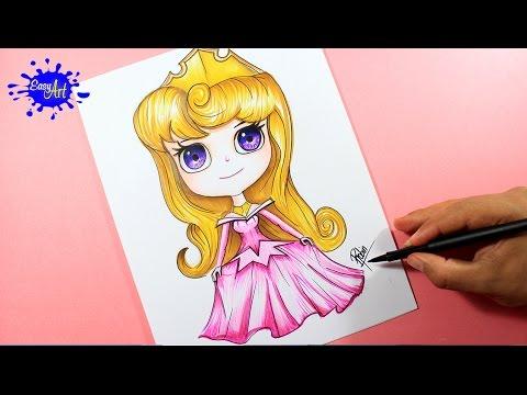 Como dibujar a Aurora de la Bella Durmiente