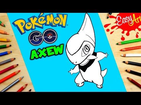 Como dibujar a Axew de Pokémon