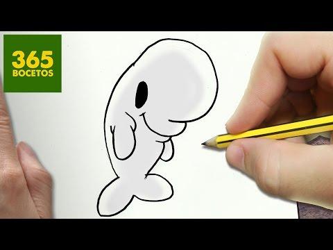 Como dibujar a Bailey de Buscando a Dory kawaii