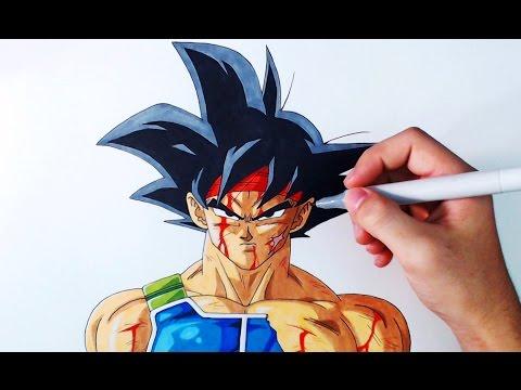Como dibujar a Bardock de Dragon Ball Z