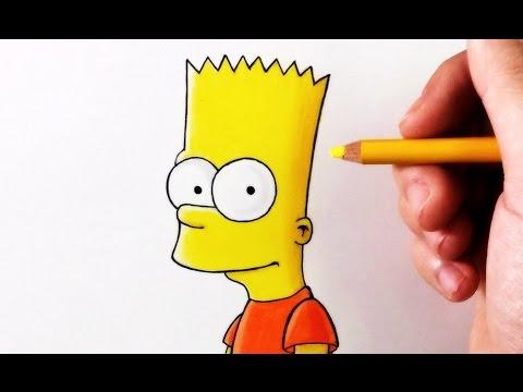 Como dibujar a Bart Simpson fácil