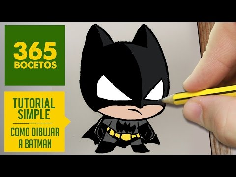 Como dibujar a Batman Kawaii