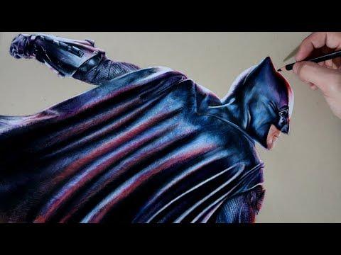 Como dibujar a Batman realista fácil