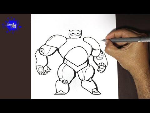 Como dibujar a Baymax