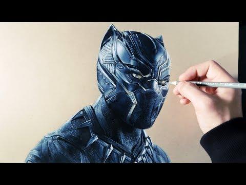 Como dibujar a Black Panther realista