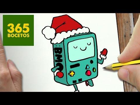 Como dibujar a BMO navideño