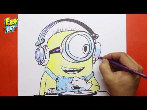 Como dibujar a Bob de Los Minions
