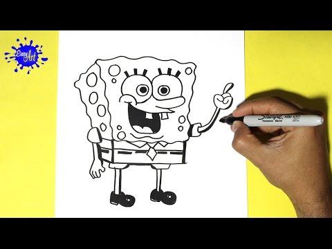 Como dibujar a Bob Esponja