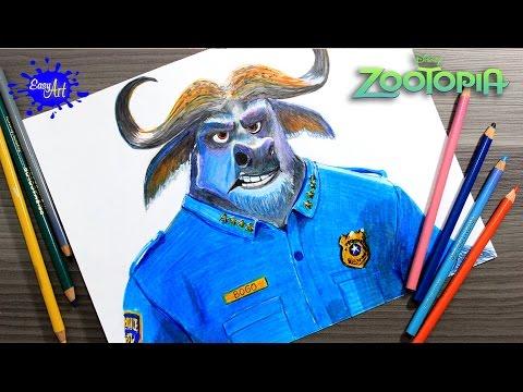 Como dibujar a Bogo de Zootrópolis