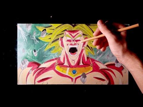 Como dibujar a Broly Super Saiyan