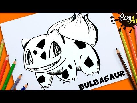 Como dibujar a Bulbasaur de Pokémon GO