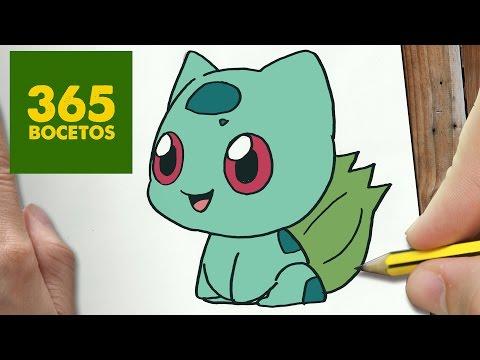 Como dibujar a Bulbasaur de Pokémon