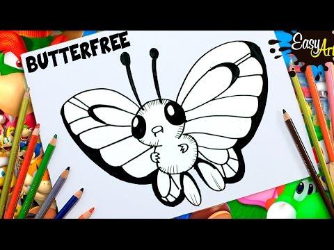 Como dibujar a Butterfree de Pokémon