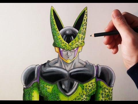 Como dibujar a Cell de Dragon Ball z