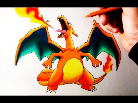 Como dibujar a Charizard de Pokémon