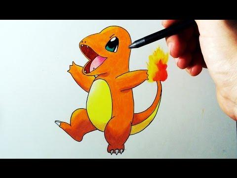 Como dibujar a Charmander