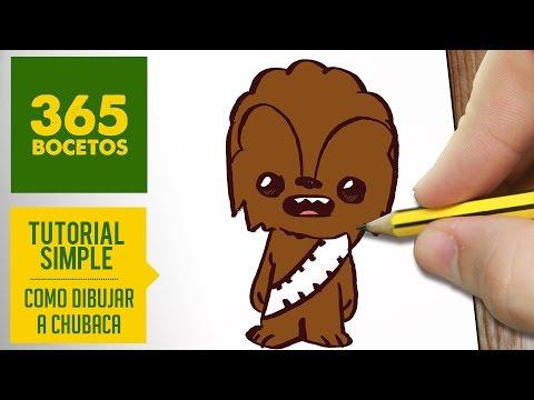 Como dibujar a Chewbacca de Star Wars