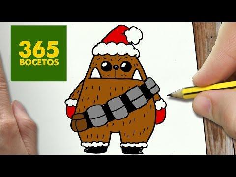 Como dibujar a Chewbacca para Navidad