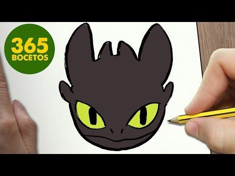 Como dibujar a Chimuelo de Cómo entrenar a tu dragón
