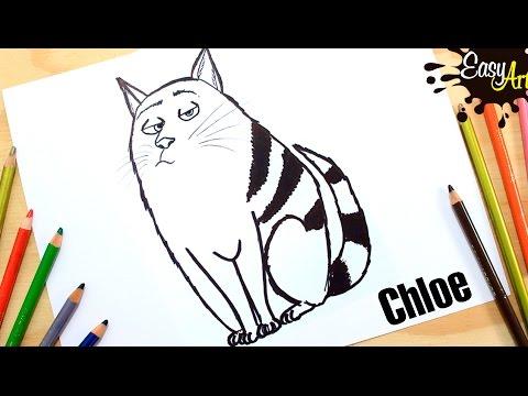 Como dibujar a Chloe de Mascotas