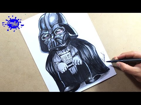 Como dibujar a Darth Vader de Star Wars