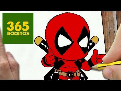 Como dibujar a Deadpool chibi