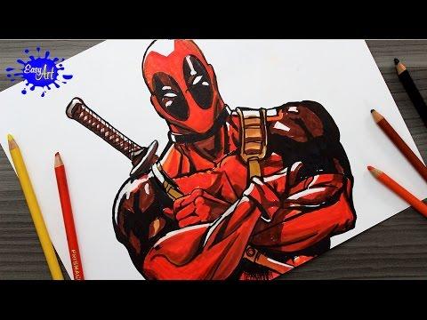 Como dibujar a Deadpool fácil