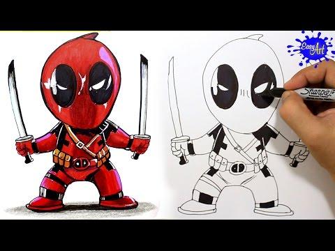 Como dibujar a Deadpool paso a paso