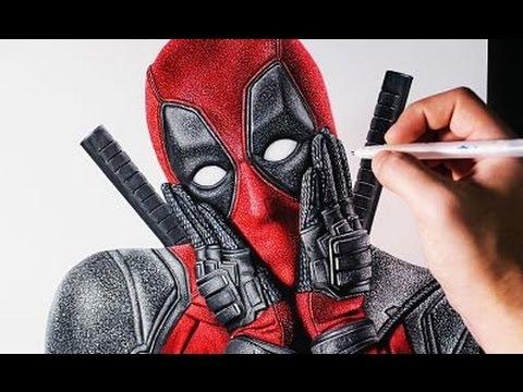 Como dibujar a Deadpool Súper Realista