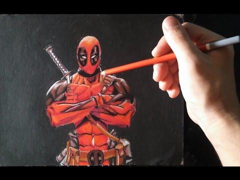 Como dibujar a Deadpool