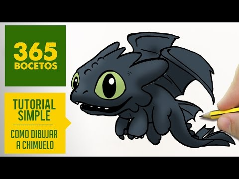 Como dibujar a Desdentado el dragón