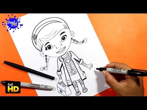 Como dibujar a Doc de Doctora Juguetes