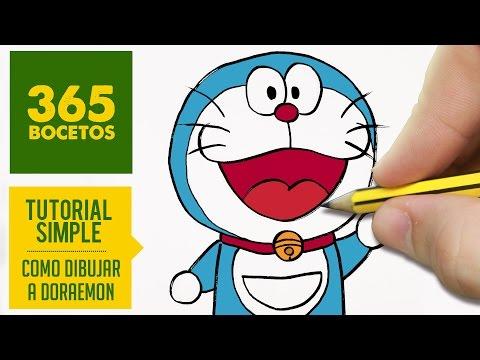 Como dibujar a Doraemon