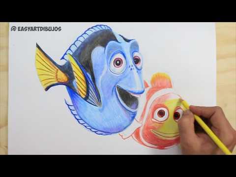 Como dibujar a Dory de Buscando a Nemo