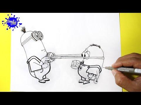 Como dibujar a dos de Los Minions