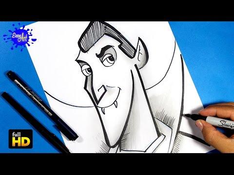 Como dibujar a Drácula de Hotel Transylvania fácil
