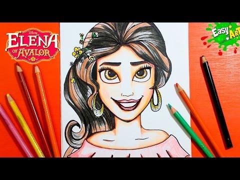 Como dibujar a Elena de Avalor