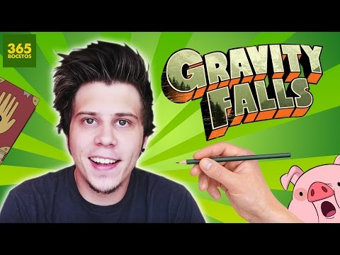 Como dibujar a ElRubius al estilo Gravity Falls